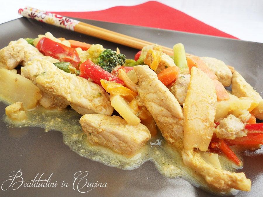 pollo cocco curry