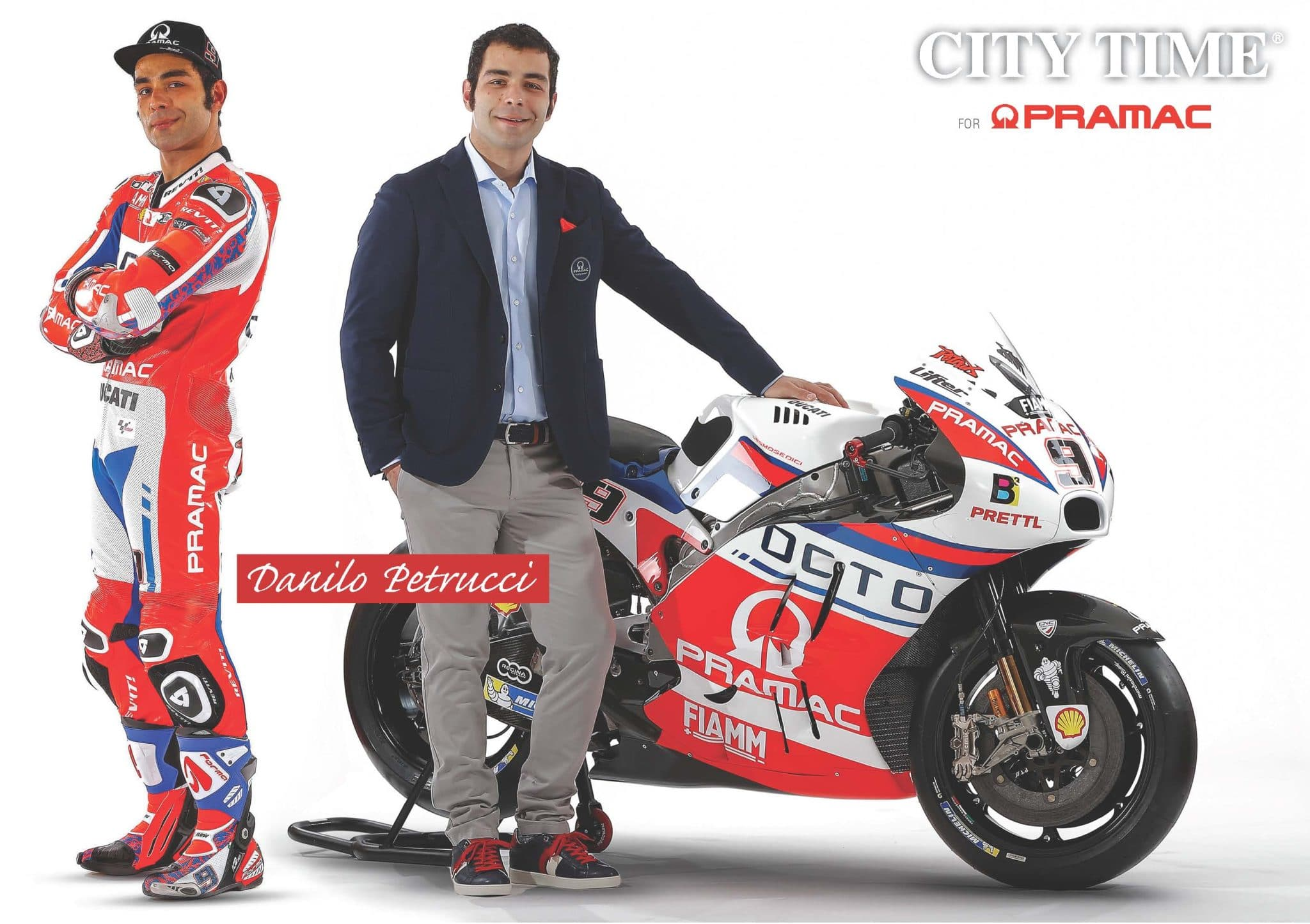 Photo of Il Team MotoGP Alma Pramac Racing veste CITY TIME. Presentata in anteprima a Firenze la nuova collezione