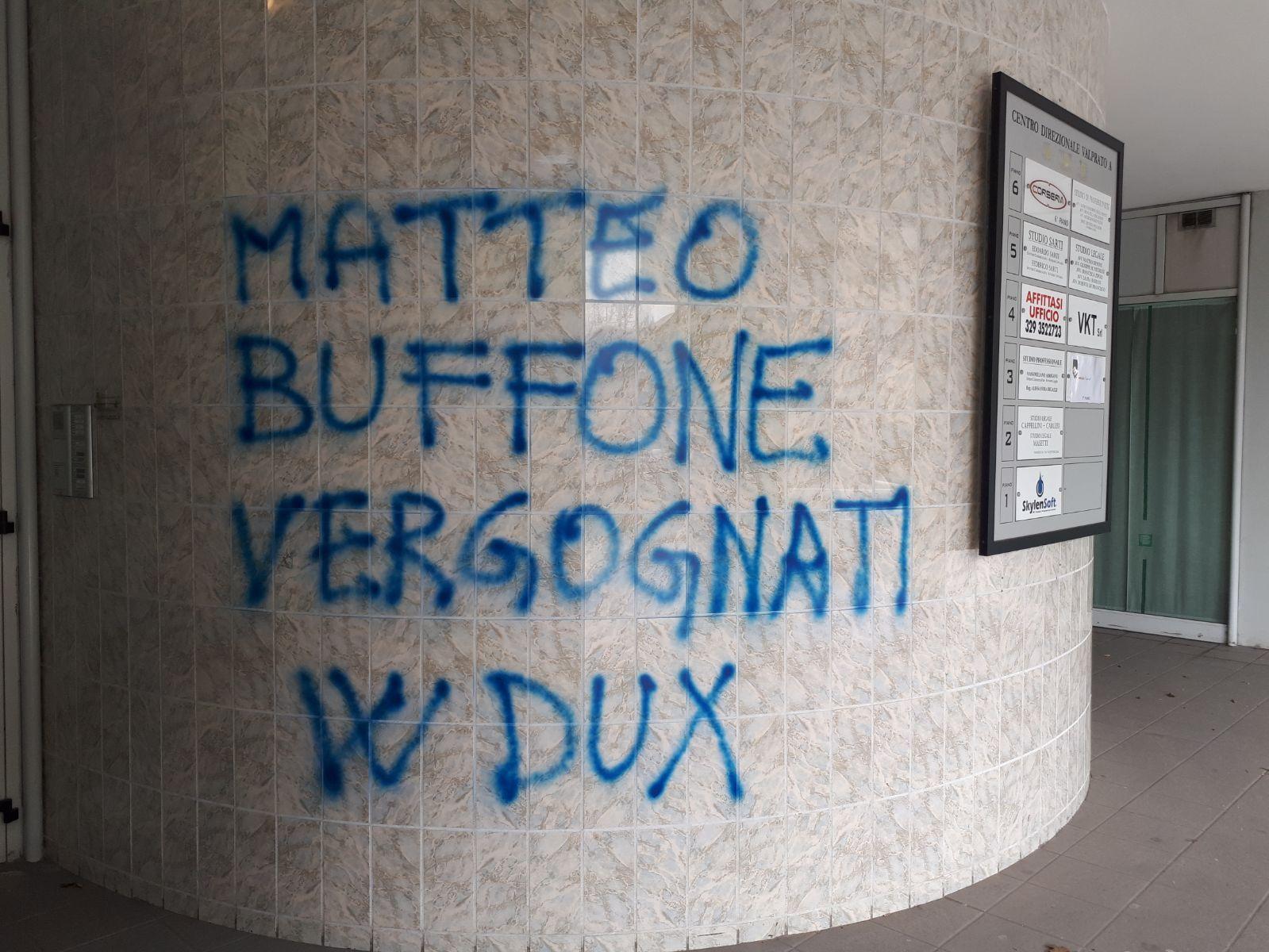 Photo of PRATO – Scritta neofascista presso lo studio legale di Biffoni e soci