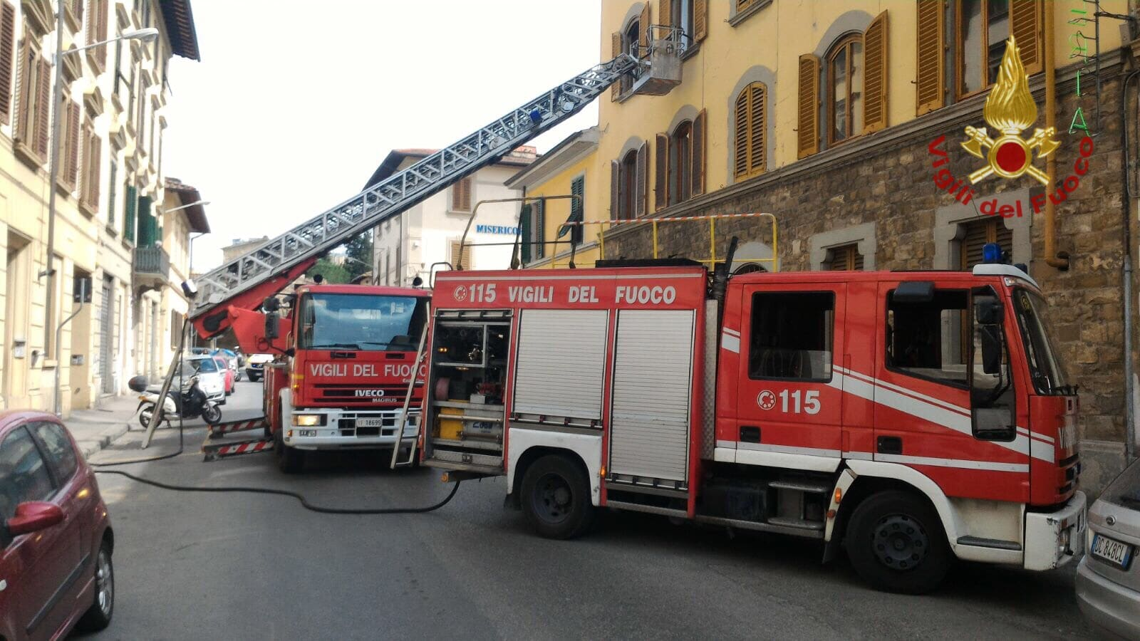 Photo of Principio di incendio in Via dello Steccuto a Firenze