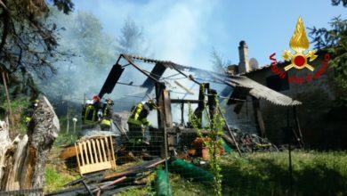 Photo of In fiamme annesso agricolo alle porte di Arezzo