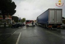 Photo of LIVORNO – Incidente stradale sull'Aurelia in loc. Stagno