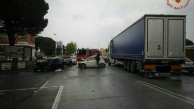 Photo of LIVORNO – Incidente stradale sull'Aurelia in loc. Stagno