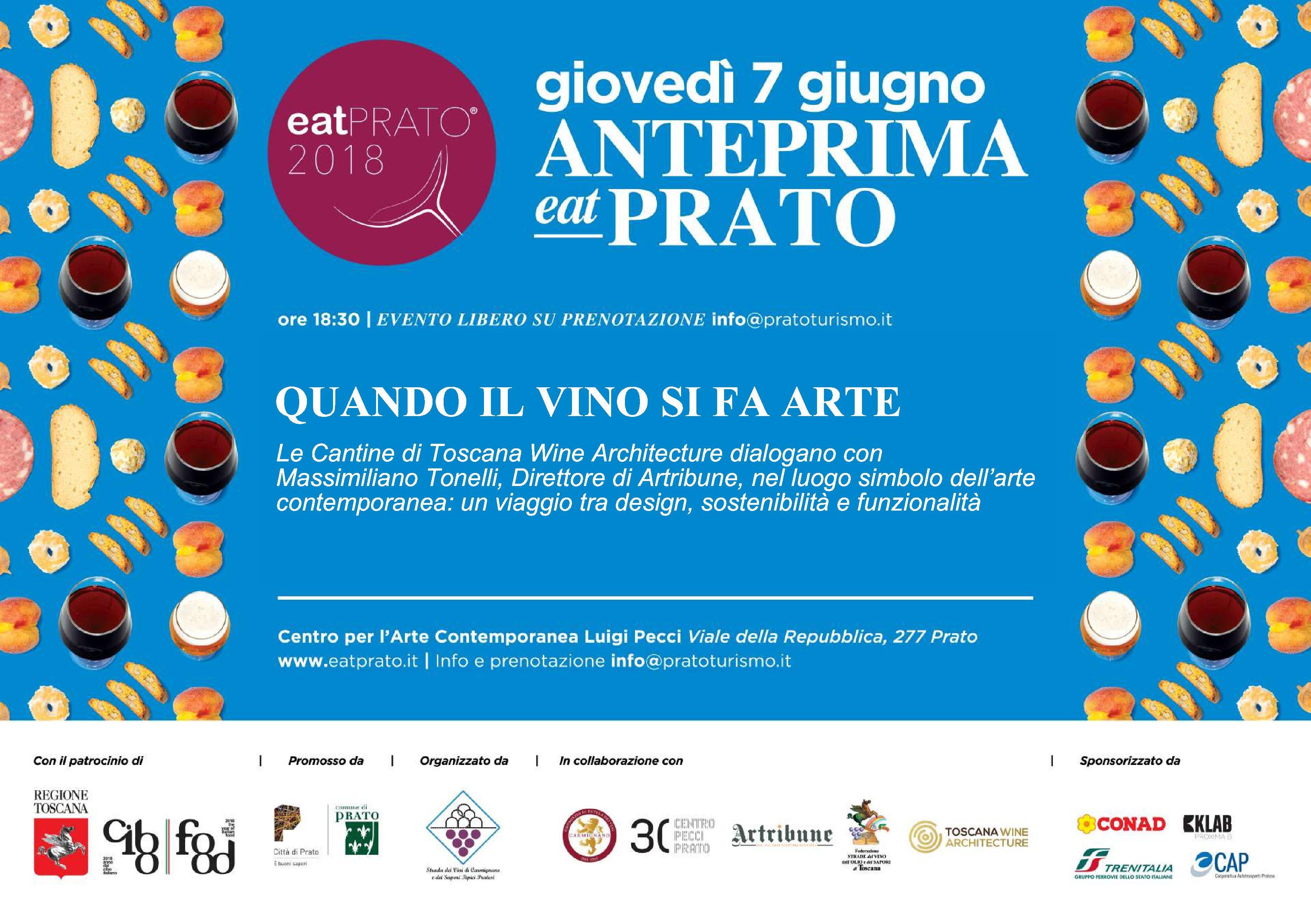 Photo of Anteprima EATPrato, il vino si fa arte al Centro Pecci