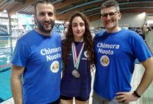 Photo of Eleonora Camisa, della Chimera Nuoto di Arezzo, in vasca al Foro Italico con i big del nuoto mondiale