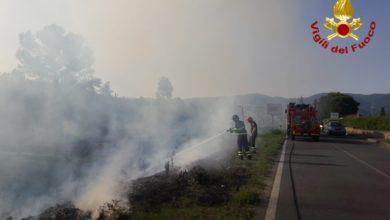 Photo of AREZZO – Incendio in località Ferrantina nel comune di Bibbiena