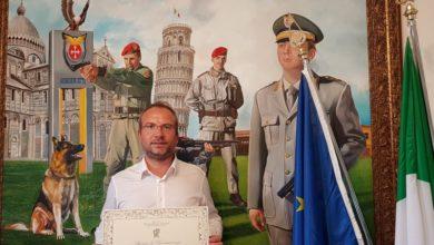 """Photo of Mariano Bizzarri Ollandini """"mecenate della cultura"""" grazie al riconoscimento dell'Istituto della Enciclopedia Italiana"""