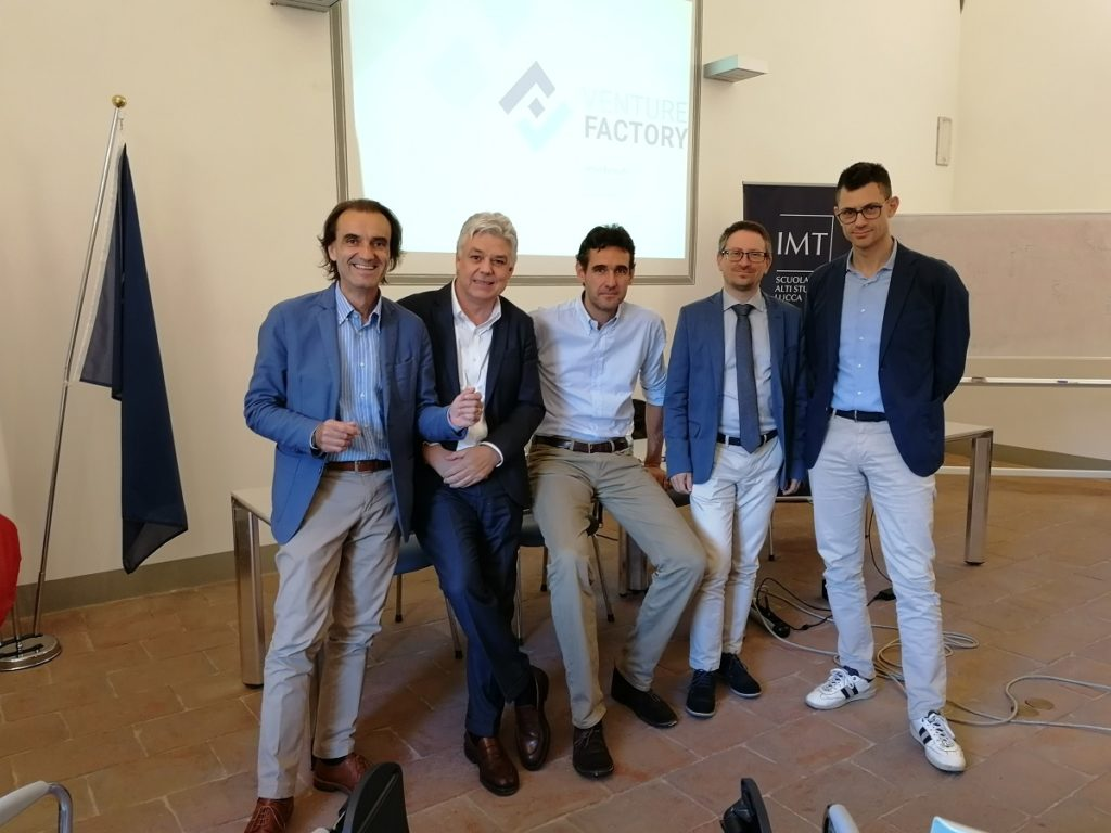 Incontro Venture Factory 1 da sx Polidori Lattanzi Redi Paggi Tribastone