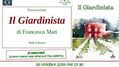 """Photo of VIAREGGIO – A Villa Argentina presentazione libro """"Il Giardinista"""" di Francesco Mati"""
