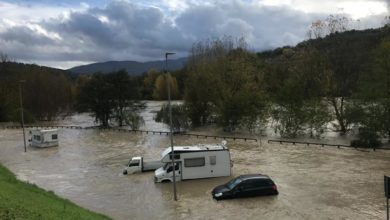 Photo of FIRENZE – Esondazione della Sieve nei pressi di Pontassieve – FOTO