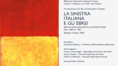 """Photo of """"La sinistra italiana e gli ebrei"""", lunedì la presentazione"""