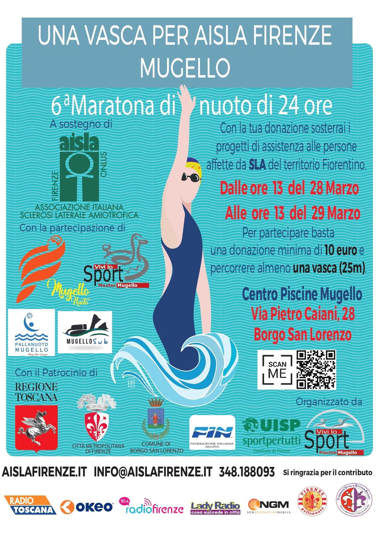 Maratona Nuoto 6 edizione 2020 Borgo San Lorenzo - locandina
