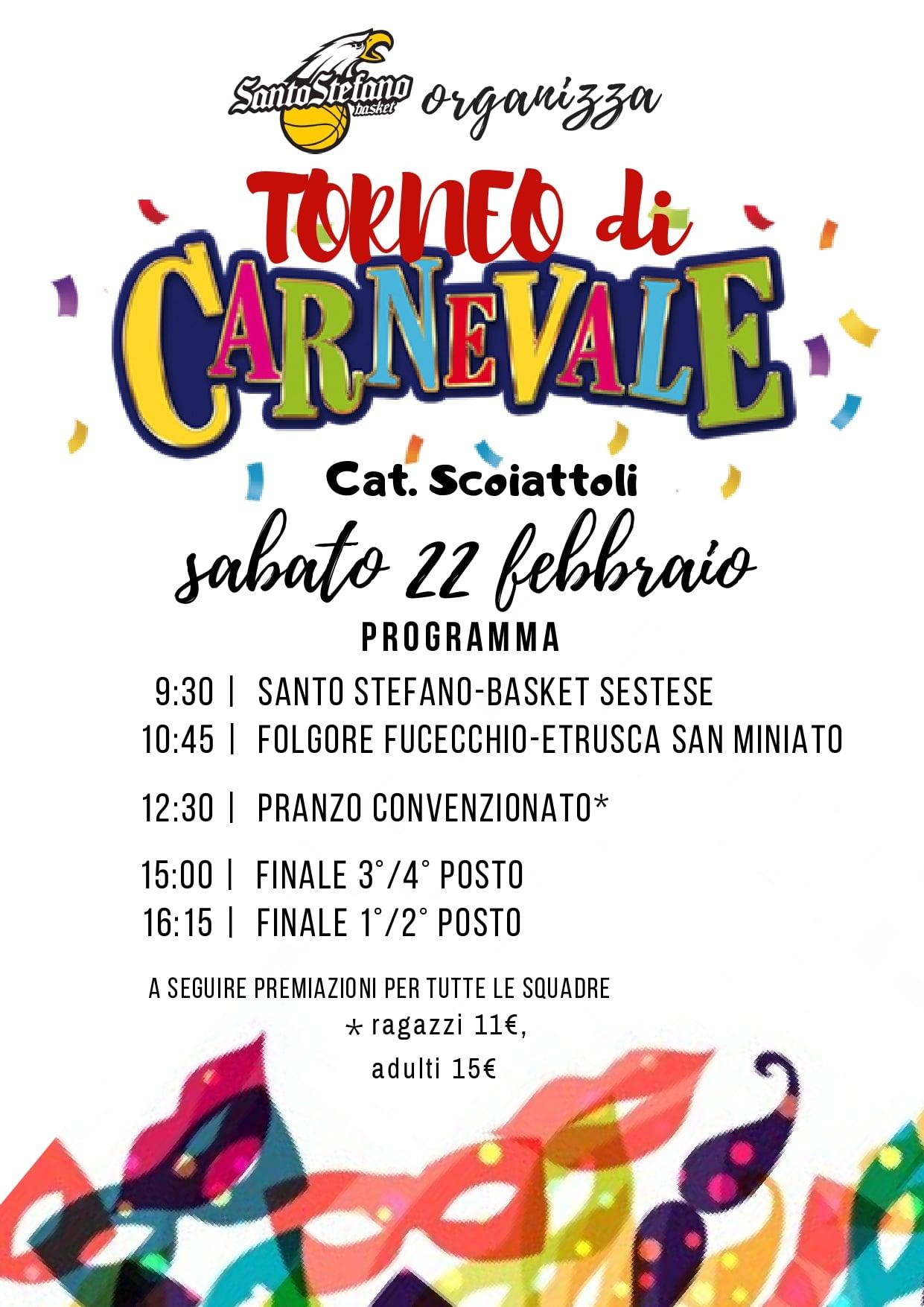 Torneo di Carnevale alla Santo Stefano Basket