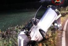 Photo of CORTONA – Auto finisce fuoristrada, intervento dei Vigili del Fuoco