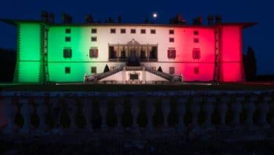 Photo of Artimino Villa La Ferdinanda s'illumina con il tricolore. Coraggio Italia!