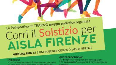 Locandina Virtual Run 20 21 giugno AISLA Firenze