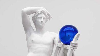 Jeff Koons Apollo Gazing Ball CROP